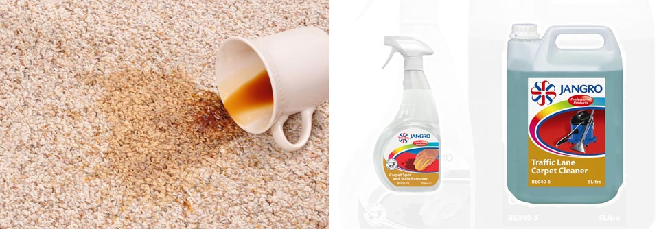 Dealing with carpet stains on the spot will stop them becoming ingrained