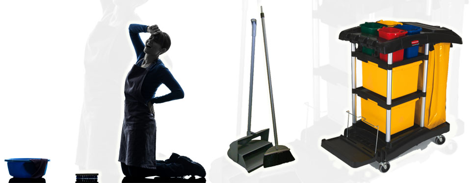Wray Bros supply janitorial equipment to counter back problems when cleaning