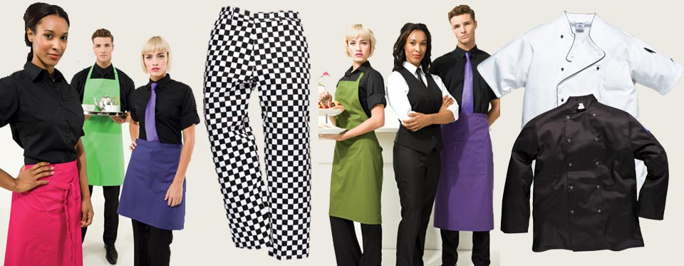 Make the right first impression with our range of Chef White's and uniforms for front of house staff