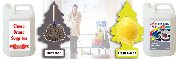 Cheaper Lemon Floor Gel use inferior materials that can leave an unpleasant odour