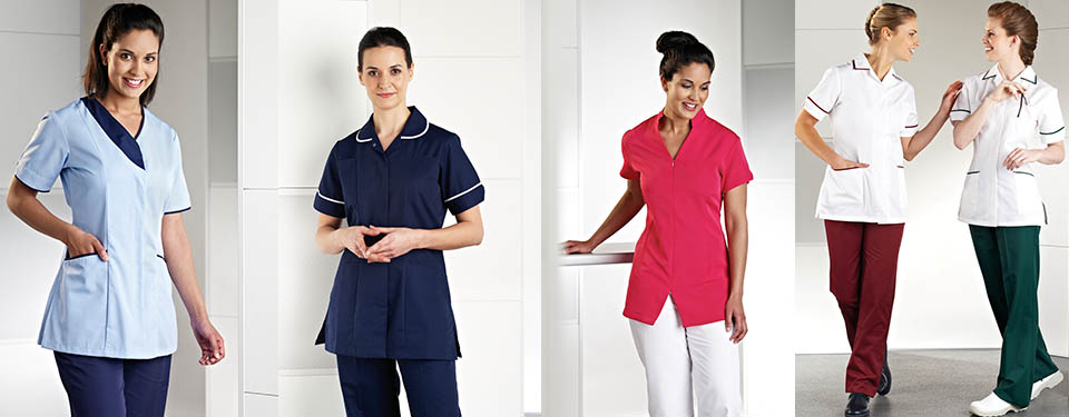 A good, well-fitting work tunic should allow you unrestricted movement when it comes to your shoulders, hips and waist. Plus make you look good too!