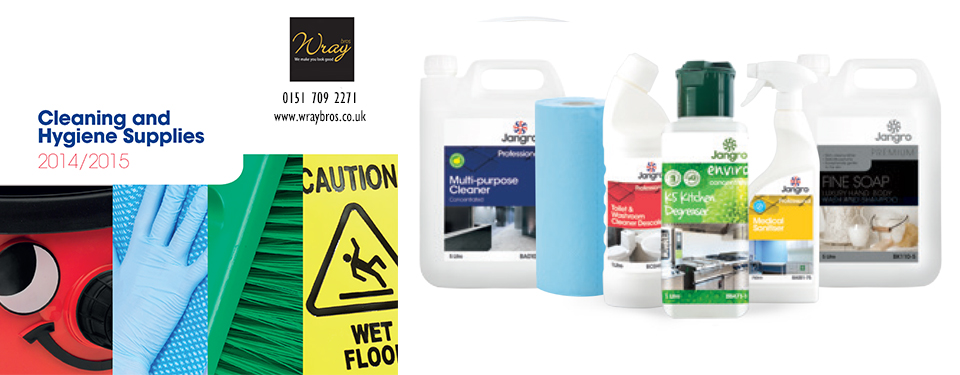 Jangro Catalogue has 164 pages covering 4,300 cleaning and hygiene products for the professional